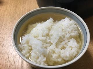 鯛のカブト焼きのスープご飯