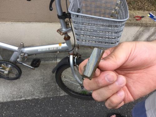自転車のブレーキシュー交換