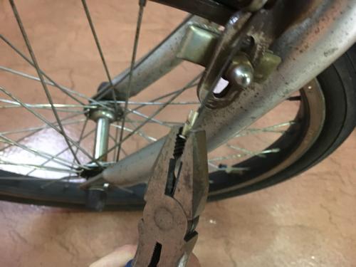自転車ブレーキワイヤー交換
